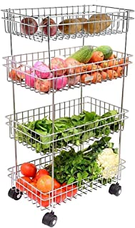 Gyanadh® Kitchen Trolley Portable Modern Storage Rack Design Fruits & Vegetable Onion Cutlery, Spice, Pickles Jars Contain...