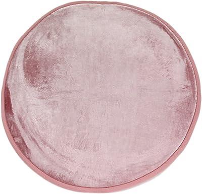 Tapis Aspect Velours Extra-Doux, 70cm Diamètre, Rose