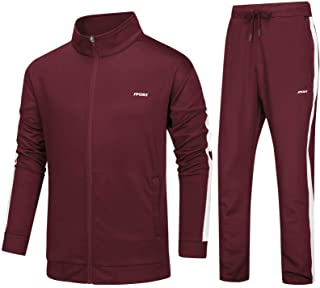 Men's Athletic Tracksuit 2 Piece Set Casual Full Zip Workout Running Jogger Sweat Suits