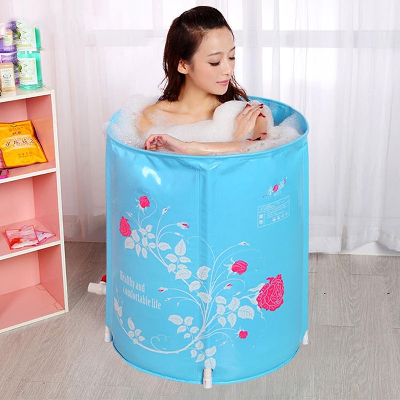 JB-YG Erwachsener Faltender Badender Eimerbaby-Swimmingpool Der Aufblasbaren Badewanne Blau ++ (gre   65x70cm)