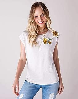t-shirt malha com bordado patch