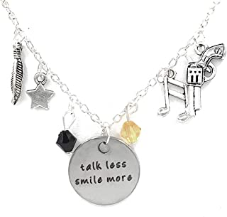Jewelry by Jules Hamilton Broadway Musical Charm Necklaces: Rise Up, Talk Less Smile More, Young Scrappy & Hungry.