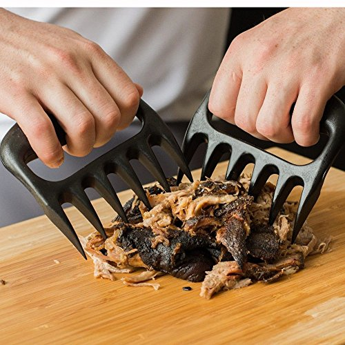 2pcs Grizzly Bear Paws Claws Meat Handler Fork Tongs Pull Shred Pork BBQ Barbecue Tool