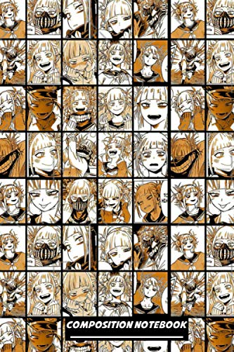 Himiko Toga Collage Notebook: (110 Pages, Lined, 6 x 9)