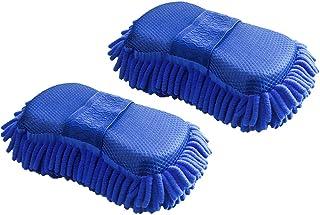 Lezed 2 Microfibra Chenille Lavado de coches esponja Guantes de Microfibra Toalla para Limpieza de Coche Lavado esponja co...