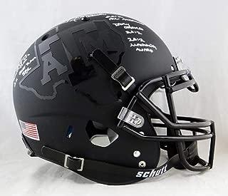 Johnny Manziel Signed Texas A&M Black F/S Authentic Helmet- JSA W Auth White AP