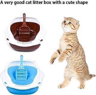 Caja de Arena para Gatos Inodoro semicerrado con Pala para Gatos y Perros pequeños