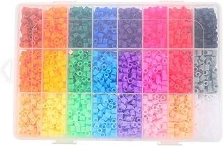 ULTNICE 1 Set 24 Color Perler Beads DIY Fuse Beads Pegboard Sticky Beads Toys Multicolor Fuse Beads for Kids Crafts Art Pu...