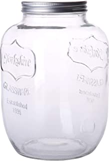 Diamond Star Glass Mason Jar 1.5 Gallons Candy Jars Cookie Storage Containers with Brushed Tin Lid