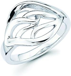Sponsored Ad - Boston Bay Diamonds 925 Sterling Silver Tear Drop Open Leaf Ring