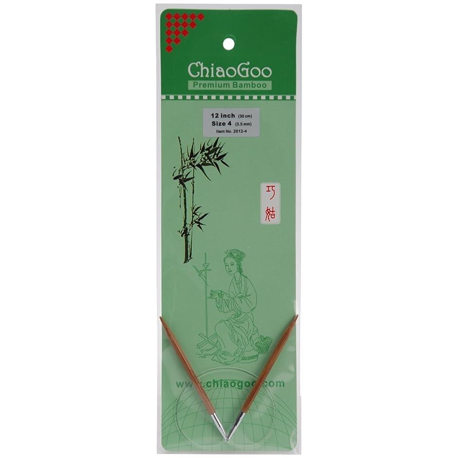 CHIAOGOO 2012W-4 12-Inch Bamboo Circular Knitting Needles, 4/3.5mm