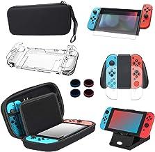 Kit de Accesorios 13 en 1 Para Nintendo Switch, Funda Protectora Para Interruptor Nintendo, Protector de Pantalla, Cubierta Transparente Para Interruptor,Tapas Para Empuñadura de Pulgar