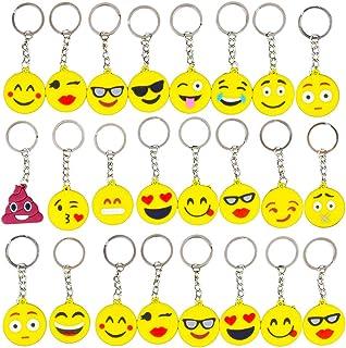 Gudotra 34 pcs Emoji Llavero Emoción para Niños Regalo de