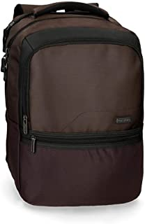 "Roll Road Stock Zaino Porta Pc Marrone 31x44x15 cms Poliestere 15,6"" 20.46L"