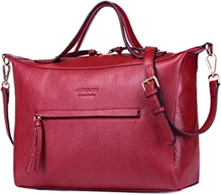 Elegant Women's Top Handle Shoulder Bag, Simple Vogue Leisure Luxury Waterproof Leather Daily Out of Messenger Bag,A,36 * 15 * 26CM