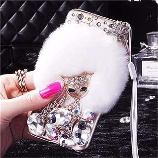 3D Handmade Luxury Civet Cats Fluffy Rabbit Fur Sparkle Stunning Stones Crystal Rhinestone Bling Diamond Glitter Case for Motorola Moto G6 Plus (Z11)
