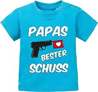 Jayess Geschenk zur Geburt Baby Shirt - Papas Bester Schuss