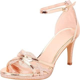 Women's Open Toe Strappy Cutout Stiletto High Heel Sandal