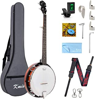 Kmise 5 String Resonator Banjo Professional Sapele Back Banjos Starter Kit With Bag Tuner Strap Strings Pickup Picks Ruler...