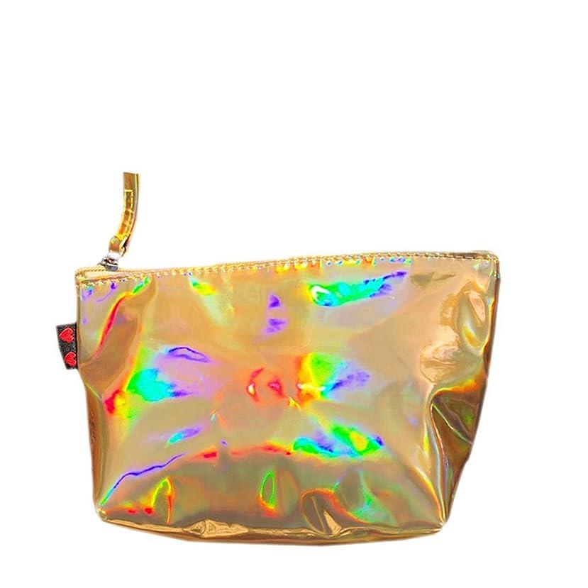 技術的な雹未来ポーチ 化粧ポーチ コスメポーチ 小物入り かわいい 機能的 キラキラ ホログラム 防水 クラッチバッグ レディース 旅行 化粧道具