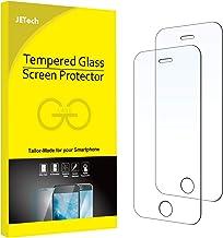 JETech Film de Protection d'écran Compatible iPhone SE 2016 (Pas compatible avec 2020), iPhone 5s, iPhone 5c et iPhone 5 en Verre Trempé, Lot de 2