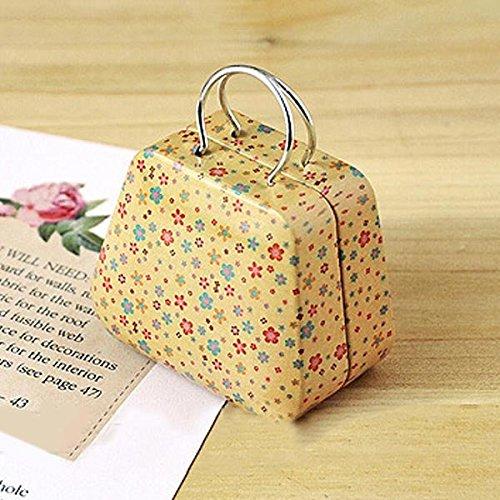 Bluelover Mini pequeña lata caja de moneda Monedero Caso joyas caja de almacenamiento de té