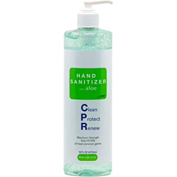 Best Hand Sanitizer Gel with Infused Aloe Vera Gel - 16oz - USA Made | 70% Ethyl Alcohol by Volume | Protect Against Germs
