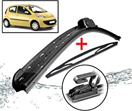 Xukey Front + Rear Windshield Wiper Blades Set Fit For Peugeot 107 Toyota Aygo Citroen C1 I