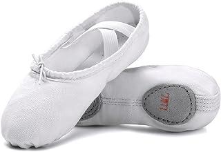 a9d1c3cd0ba5 STELLE Girls Canvas Ballet Slipper Ballet Shoe Yoga Dance Shoe  (Toddler Little