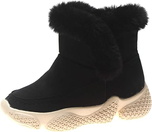 HOESCZS Bottes Martin bottes Winter New Thick-Soled Thick Snow bottes femmes Keep Warm in The Tube Sports Wind Martin bottes High to Help Wohommes chaussures