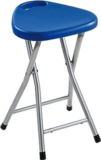 Gedy CO750500300 Taburete Plegable, Azul, 46,5x30x29,3 cm