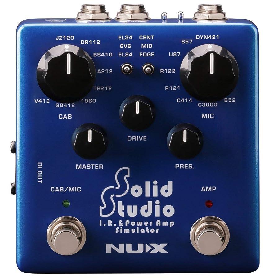 好ましい論争保全NUX Solid Studio IRパワーアンプシミュレータキャビネットマイクとマイクポジションを内蔵したIRローダと3本のチューブとパワーアンプコントロールを備えたパワーアンプシミュレータ