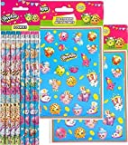 1 Shopkins Pencils, 8ct and Shopkins Party Favor Stickers ~ 8 Sticker Sheets