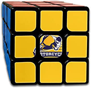3x3 Rubik Cube Motorcycle Yellow Background Smooth Magic Cube Sequential Puzzle