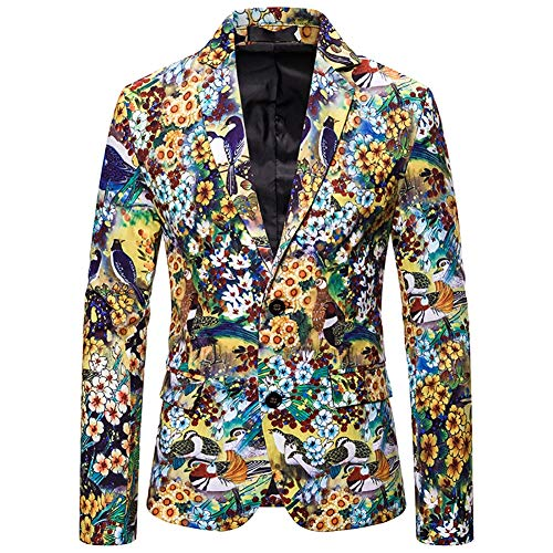 Story of life Kerstmis jassen voor mannen in verschillende prints gekleurde bloemen casual kerst blazer kostuum jas
