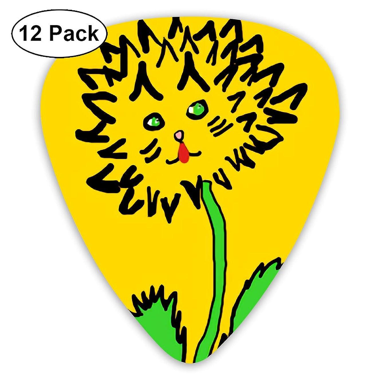 Lion Sunflower Graffiti Bendy Ultra Thin 0.46 Med 0.73 Thick 0.96mm 4 Pieces Each Base Prime Plastic Jazz Mandolin Bass Ukelele Guitar Pick Plectrum Display