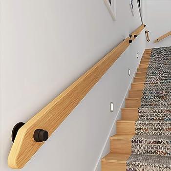 WZNING - Pasamanos de escalera de madera antideslizante para escaleras, arranque contra la pared interior Loft viejos barandilla, 250 cm: Amazon.es: Hogar
