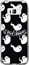 Case Compatible for Samsung Galaxy S8 Plus Halloween Trick or Treat Ghosts Gothic Skeleton Thriller Pumpkin Design TPU Silicone Protector Shell Bumper for Galaxy S8 Plus
