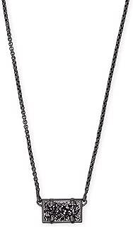 Kendra Scott Pattie Gunmetal Pendant Necklace in Black Drusy