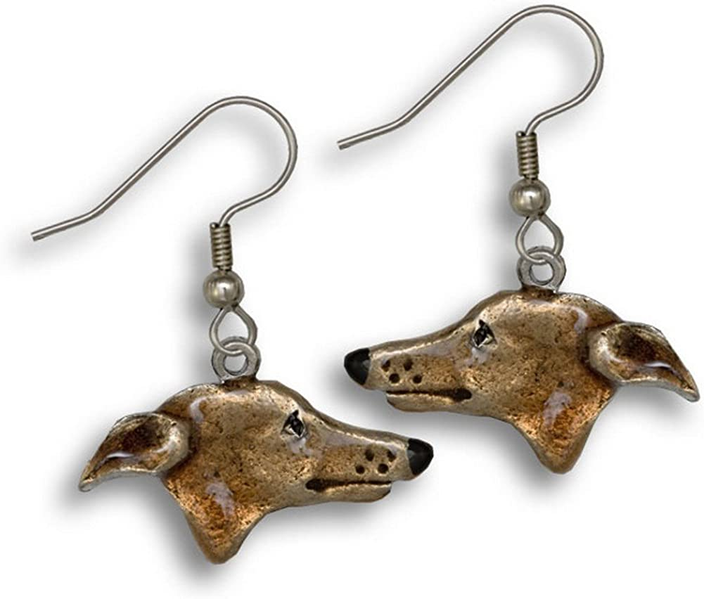 Enamel Greyhound Topaz デポー Colored Earrings The Magic 在庫限り by Zoo