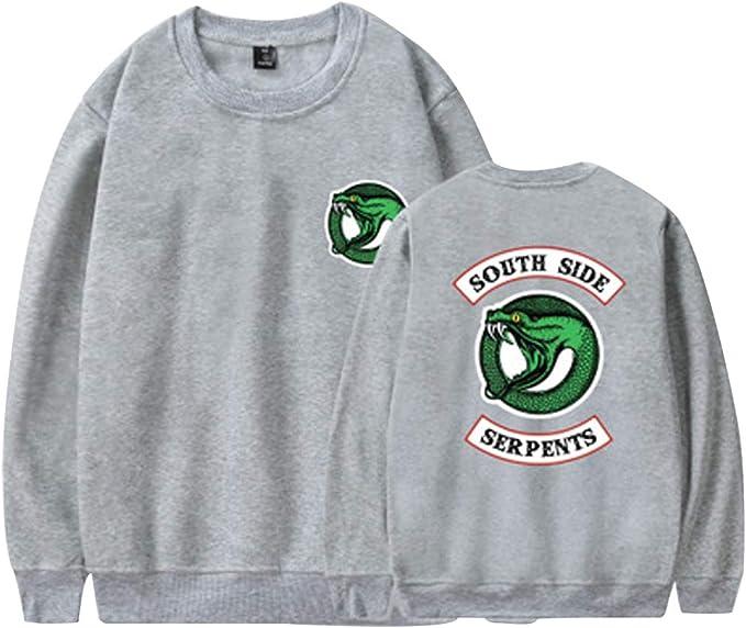 Riverdale South Side Serpents Sudadera Sin Capucha para Hombre Mujer Moda Camisa Swag Pullover Hip Hop Danza Tee Shirt Camisetas Manga Larga Otoño ...