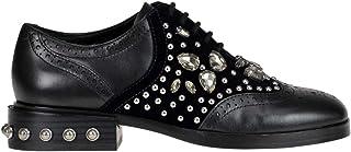 Ash Women's MCGLCAB000006009I Black Leather Lace-Up Shoes