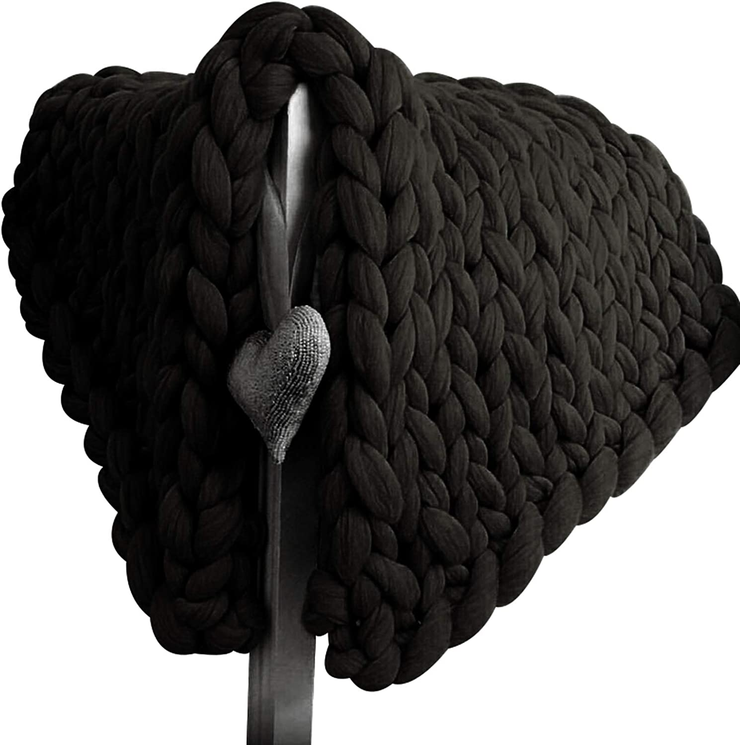 Factory outlet YXYH Hand Brand new Made Chunky Knit Yarn Blanket Knitted Thick Th