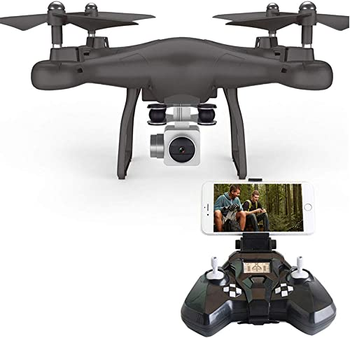 FPV RC-Drohnenquadrat Profi 200W HD 720P Luftbildfotografie Echtzeit-Kartenübertragung Headless Mode One Key Return Trajectory Flight,schwarz