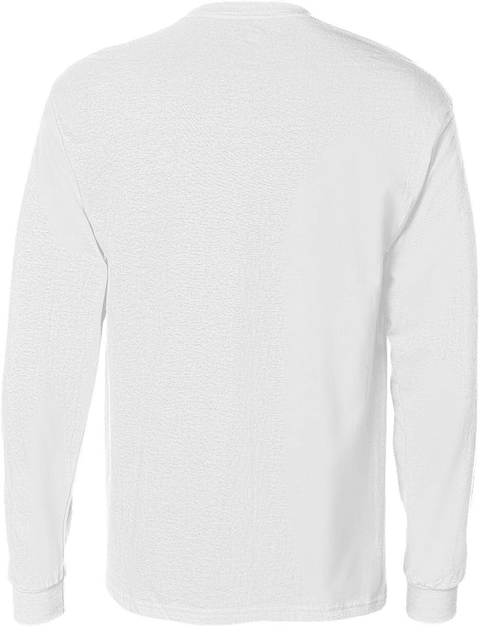 Hanes Tagless Long Sleeve T-Shirt with a Pocket