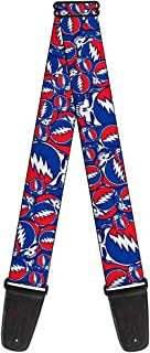 Buckle-Down GS-WGD015 Guitar Strap - Steal Your Face Stacked Red/White/Blue - 2