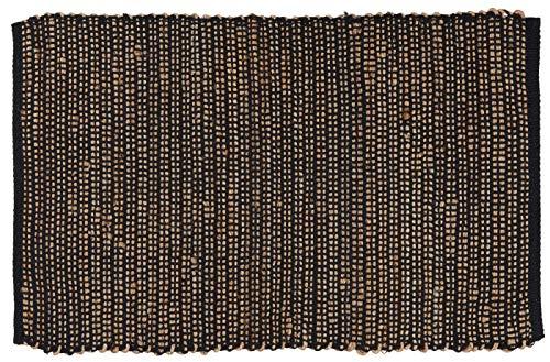 IB Laursen - Teppich, Matte, Jute - Baumwolle und Jute - Schwarz - (LxB): 60 x 90 cm