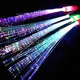 Eventlights Leuchtwedel Multicolor 12 STK. - LED Leuchtstab mit Glasfasern - Hochzeit, Party, Disko, Konzert