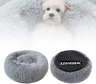 Ezonedeal Calming Bed for Dogs, Donut Cuddler Dog Bed Small Medium Large Orthopedic Pet Bed Self Warming Round Fluffy Plus...