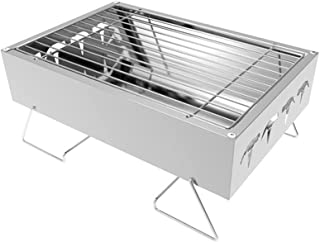 Wyhgry Stainless Steel Barbecue Grill Outdoor Charcoal BBQ,Folding Portable BBQ for 1-3 Persons Family Garden Outdoor Cook...
